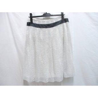 【中古】 ペイトンプレイス PEYTON PLACE スカート サイズ13B レディース ホワイト ブラック