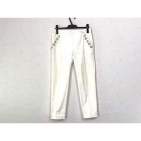 【中古】 チェスティ Chesty パンツ サイズ0 XS レディース 白 ビジュー/ラインストーン