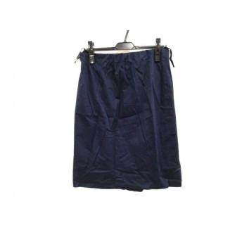 【中古】 ジユウク 自由区/jiyuku スカート サイズ44 L レディース ネイビー