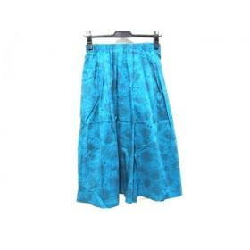 【中古】 ノーブランド スカート サイズF レディース ブルー ブラウン