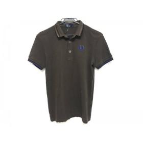 【中古】 フレッドペリー FRED PERRY 半袖ポロシャツ サイズS メンズ ブラウン ブルー