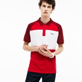 L.12.12 カラーブロック コットンプチピケ ポロシャツ (半袖)