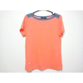 【中古】 ラルフローレン RalphLauren 半袖Tシャツ メンズ オレンジ ネイビー