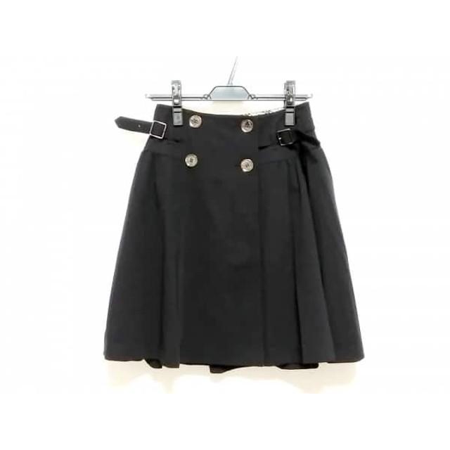 【中古】 バーバリーブルーレーベル Burberry Blue Label 巻きスカート サイズ36 S レディース 黒