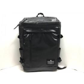 【中古】 マキャベリック MAKAVELIC リュックサック 黒 PVC(塩化ビニール)