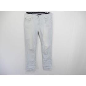 【中古】 セオリー theory パンツ サイズ26 S レディース 白 ネイビー ストライプ