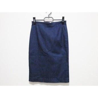 【中古】 ウィムガゼット whim gazette スカート サイズ38 M レディース 美品 ネイビー デニム