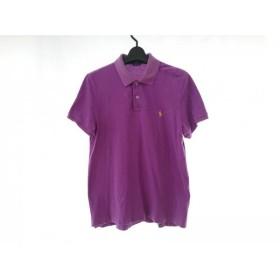 【中古】 ラルフローレン RalphLauren 半袖ポロシャツ サイズXL メンズ パープル