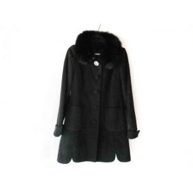 【中古】 レッセパッセ LAISSE PASSE コート サイズ32 XS レディース 黒 冬物/ファー/ビジュー