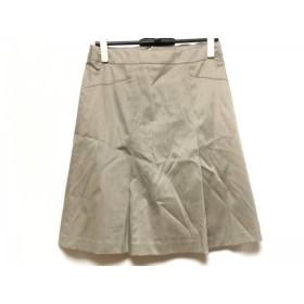 【中古】 ニジュウサンク 23区 スカート サイズ40 M レディース ライトブラウン