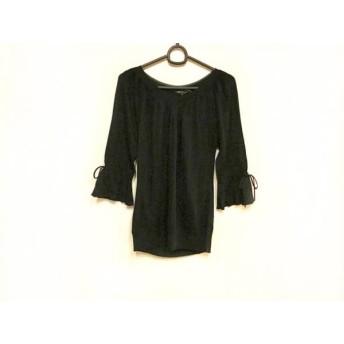 【中古】 ニジュウサンク 23区 七分袖セーター サイズ38 M レディース 美品 ネイビー リボン