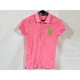 【中古】 ラルフローレン 半袖ポロシャツ サイズS レディース ビッグポニー ピンク ライトグリーン