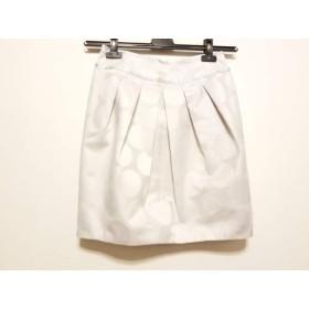 【中古】 ジャスグリッティー JUSGLITTY ミニスカート サイズ2 M レディース 白 シルバー ラメ