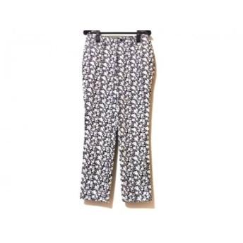 【中古】 アマカ AMACA パンツ サイズ36 S レディース 美品 黒 白 花柄