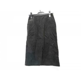 【中古】 プラージュ Plage ロングスカート サイズ36 S レディース ダークグレー コーデュロイ