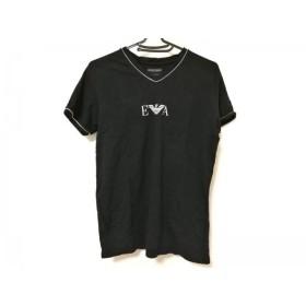 【中古】エンポリオアルマーニ アンダーウェア EMPORIOARMANI UNDERWEAR 半袖Tシャツ レディース 黒