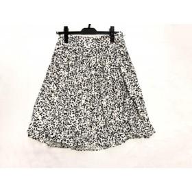 【中古】 エポカ EPOCA スカート サイズ40 M レディース 白 黒 グレー