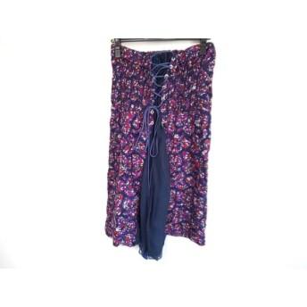 【中古】 サカイ Sacai スカート サイズ2 M レディース パープル マルチ 花柄