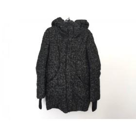 【中古】 スライ SLY ダウンコート レディース 黒 白 冬物