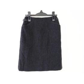 【中古】 ハロッズ HARRODS スカート サイズ2 M レディース ダークネイビー
