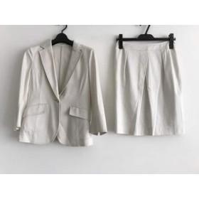 【中古】 ヴァンドゥ オクトーブル 22OCTOBRE スカートスーツ サイズ36 S レディース 白