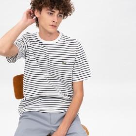 鹿の子地ボーダーTシャツ