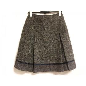【中古】 ニジュウサンク 23区 スカート サイズ38 M レディース 黒 ライトブラウン