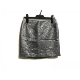 【中古】 ピンキー&ダイアン Pinky & Dianne ミニスカート サイズ36 S レディース 美品 グレー ラメ