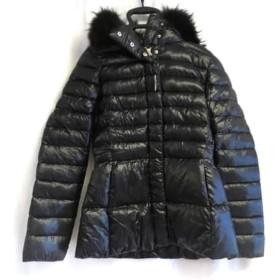 【中古】 ヘルノ HERNO ダウンジャケット サイズ40 M レディース 黒 ファー/冬物