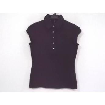 【中古】 セオリー theory 半袖ポロシャツ サイズ2 S レディース 黒