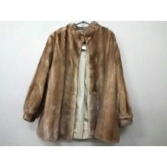 【中古】 サガミンク SAGA MINK コート サイズ11 M レディース ブラウン ミンク/冬物 ミンク