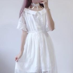 新品 レディース パーティドレス 人気 レース ワンピース 学生 可愛い 姫服