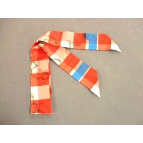【中古】 エルメス HERMES スカーフ 美品 ツィリー H0632065 レッド 白 マルチ