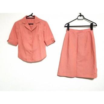 【中古】 バレンシアガ BALENCIAGA スカートスーツ サイズ38 M レディース ピンクオレンジ La Mode