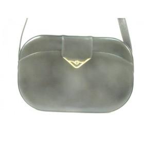 【中古】 カルティエ Cartier ショルダーバッグ サファイアライン 黒 ゴールド レザー