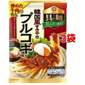 キッコーマン 具麺 韓国風すきやき プルコギ味 ( 116g3袋セット )/ キッコーマン