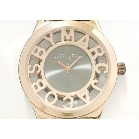 【中古】 マークジェイコブス 腕時計 MBM8599 レディース 革ベルト 黒 ピンクゴールド
