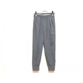 【中古】 フレイアイディー パンツ サイズ0 XS レディース 美品 グレー 白 ストライプ/ジップアップ