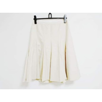 【中古】 バーバリーロンドン Burberry LONDON スカート サイズ40 L レディース 新品同様 ベージュ ラメ
