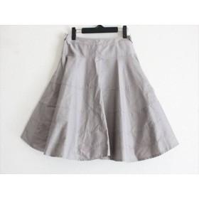 【中古】 トゥービーシック TO BE CHIC スカート サイズ40 M レディース グレー リボン