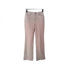 【中古】 ビースリー B3 B-THREE パンツ サイズ32 XS レディース ダークブラウン アイボリー 千鳥格子