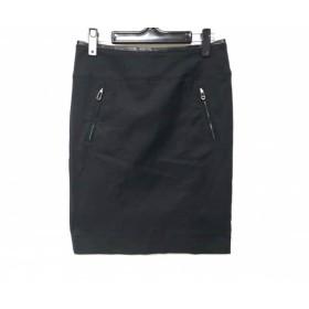 【中古】 ヒューゴボス HUGOBOSS スカート サイズ36(IT) レディース 黒