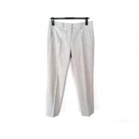 【中古】 セオリーリュクス theory luxe パンツ サイズ38 M レディース 美品 ライトグレー