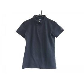 【中古】 キャロウェイ CALLAWAY 半袖ポロシャツ サイズM レディース 黒 GOLF/ジップアップ