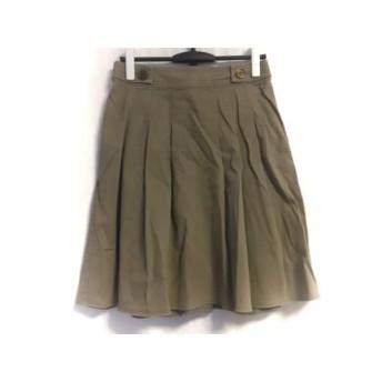 【中古】 バーバリーロンドン Burberry LONDON スカート サイズ38 L レディース 美品 グレー ベージュ