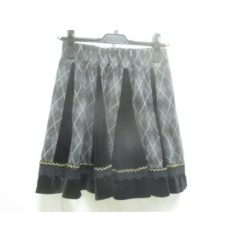 【中古】 アクシーズファム axes femme スカート サイズM M レディース グレー マルチ