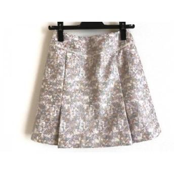 【中古】 リリーブラウン Lily Brown スカート サイズ1 S レディース ベージュ マルチ