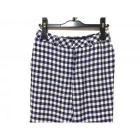 【中古】 ルシェルブルー LE CIEL BLEU パンツ サイズ36 S レディース ネイビー アイボリー チェック柄