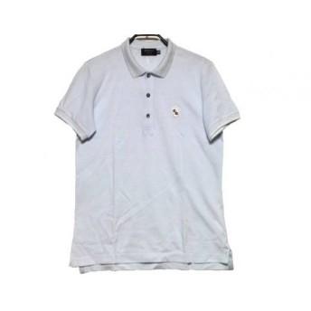 【中古】 エポカ EPOCA 半袖ポロシャツ サイズ46 XL メンズ ライトブルー アイボリー UOMO