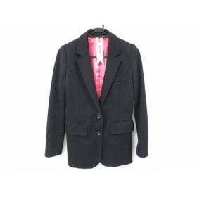 【中古】 ロイヤルパーティー ROYALPARTY ジャケット サイズ36 S レディース 黒 肩パッド